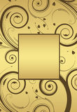 Vector floral gold frame. For text Royalty Free Stock Photo