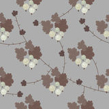 Vector floral gooseberry seamless pattern. Beautiful elegant beige brown floral gooseberry seamless pattern background Stock Illustration