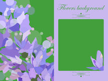Vector floral greeting card  gift card bells  background Royalty Free Stock Photo
