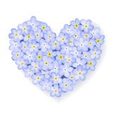 Vector floral heart Royalty Free Stock Photography