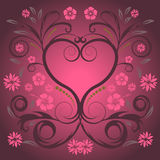Vector floral heart. Trendy vector floral heart design Stock Image