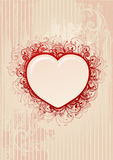 Vector floral heart frame Stock Photo