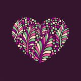 Vector floral heart Stock Photo