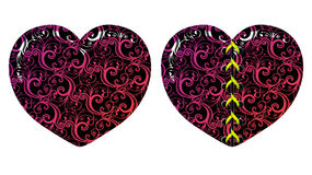 Vector floral hearts Stock Photography