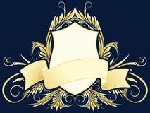 Vector floral heraldic plate Stock Photos
