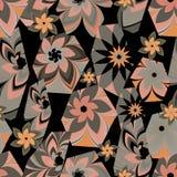 Vector floral hexagon vector illustration