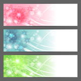 Vector floral illustration background. Horizontal Stock Images