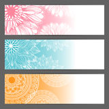Vector floral illustration background. Horizontal Royalty Free Stock Photo