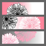 Vector floral illustration background. Horizontal Royalty Free Stock Photos