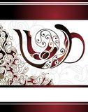 Vector floral  illustration of coffee cup design Royalty Free Stock Images
