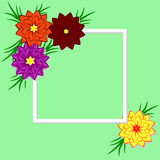 Vector floral illustration. Design for invitations, weddings, bi Royalty Free Stock Photography