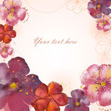 Vector floral illustration Stock Images