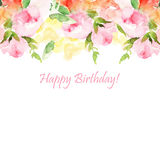 Vector floral illustration Royalty Free Stock Photo