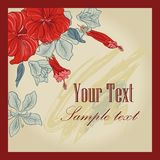 Vector Floral Invitation  Card Royalty Free Stock Photos