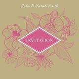 Vector floral INVITATION Royalty Free Stock Photos