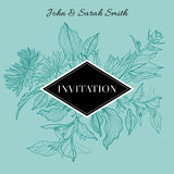 Vector floral INVITATION Stock Images