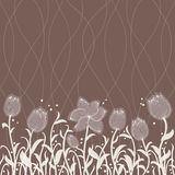 Vector floral invitation pattern Stock Images