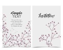 Vector Floral invitations Stock Photos