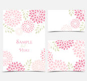 Vector Floral invitations Royalty Free Stock Photography