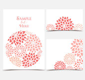 Vector Floral invitations Stock Photo