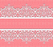 Vector floral lace background Royalty Free Stock Photo