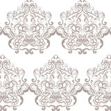 Vector floral lace pattern composition. In Oriental style. Ornamental lace pattern for wedding invitations, greeting cards, wallpaper, backgrounds, fabrics Stock Images