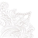 Vector floral lace pattern element. In Oriental style. Ornamental lace pattern for wedding invitations, greeting cards, wallpaper, backgrounds, fabrics, textile Stock Photos