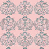 Vector floral lace pattern in Oriental style. Ornamental lace pattern for wedding invitations, greeting cards, wallpaper, backgrounds, fabrics, textile Stock Images