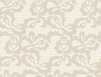 Vector Floral lace vintage rustic seamless pattern Stock Photo