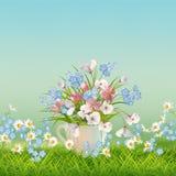 Vector Floral Landscape vector illustration