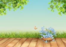 Vector Floral Landscape stock illustration