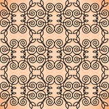 Vector floral line style background, seamless Stock Images
