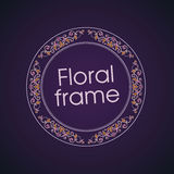 Vector floral linear style frame - art deco border. For text. Title and page Royalty Free Illustration