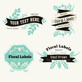 Vector floral logo badges and labels Royalty Free Stock Photos