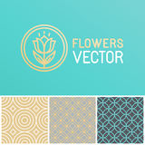Vector floral logo design element Royalty Free Stock Photo