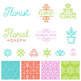 Vector floral logos Stock Images