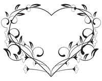 Vector floral love frame Royalty Free Stock Photography