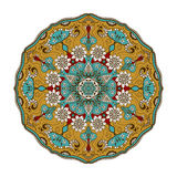 Vector floral mandala in indian style. Mehndi ornamental flower. Hand drawn ethnic pattern Royalty Free Stock Photo