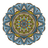 Vector floral mandala in indian style. Mehndi ornamental flower. Hand drawn ethnic pattern Stock Photo