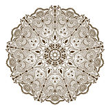 Vector floral mandala in indian style. Mehndi ornamental flower Royalty Free Stock Photos