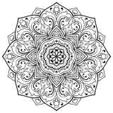 Vector floral mandala. Royalty Free Stock Photo