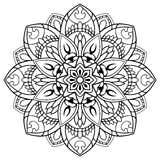 Vector floral mandala. Stock Images