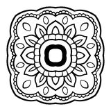 Vector floral mandala. Royalty Free Stock Photos