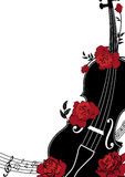 Vector floral musical composition stock illustration