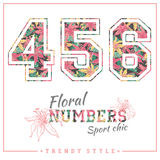 Vector floral numbers for t-shirts, posters, card and other uses. Stock Photography