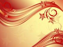 Vector floral ondulado abstracto Fotos de archivo