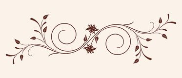 Vector floral ornament. Stock Images
