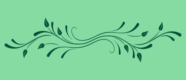 Vector floral ornament. Stock Photo