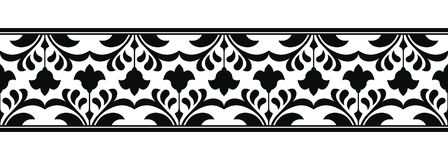 Vector floral ornament. Royalty Free Stock Photos