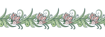 Vector floral ornament. Royalty Free Stock Image